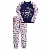 17-1327 Пижама для мальчика, интерлок, 6-9 лет, синий