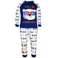 17-1328 Пижама для мальчика, 2-5 лет, синий