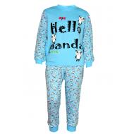 17-1329 Пижама для мальчика, 2-5 лет, голубой