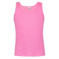 17-1665 Майка для девочки, рубчик, розовый