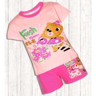 17-252107 Комплект для девочки, 2-5 лет, розовый\малиновый