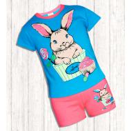 17-252110 Комплект для девочки, 2-5 лет, голубой\розовый