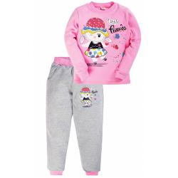 17-258203 Костюм для девочки, 2-5 лет, розовый\меланж