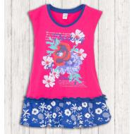 17-378015 Платье для девочки, 3-7 лет, малиновый
