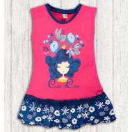 17-378013 Платье для девочки, 3-7 лет, малиновый