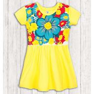17-378016 Платье для девочки, 3-7 лет, желтый