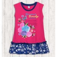 17-378019 Платье для девочки, 3-7 лет, малиновый