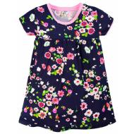 17-378020 Платье для девочки, 3-7 лет, т-синий