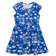 17-378021 Платье для девочки, 3-7 лет, синий