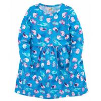 """17-37803 """"Птички"""" Платье для девочки, 3-7 лет, голубой"""