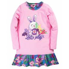 """17-37805 """"Зайка"""" Платье для девочки, 3-7 лет, розовый"""