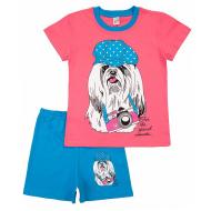 17-69207 Комплект для девочки, 6-9 лет, т-розовый\бирюза