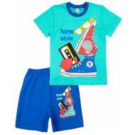 17-692102 Комплект для мальчика, 6-9 лет, мята\голубой