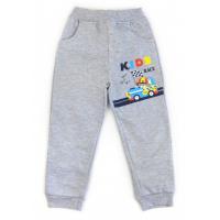 17-9102 Брюки для мальчиков с карманами, начес, 2-5 лет, меланж