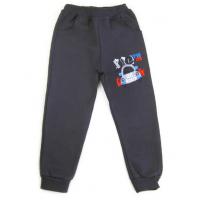 17-91020 Брюки для мальчиков с карманами, начес, 2-5 лет, серый