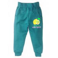 17-9114 Брюки для девочек с карманами, 1-4 года, зеленый