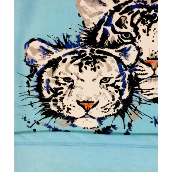 """10-588226 """"TIGER"""" Пижама с начесом, 5-8 лет, голубой"""
