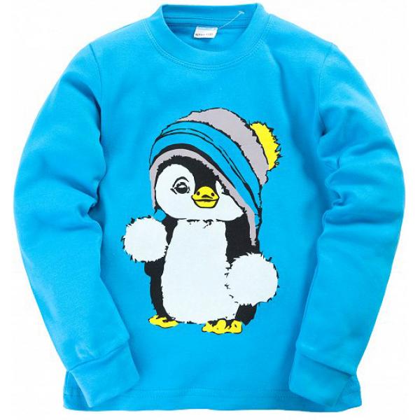"11-258135 ""Penguin""  Пижама, интерлок, 2-5 лет, бирюзовый"