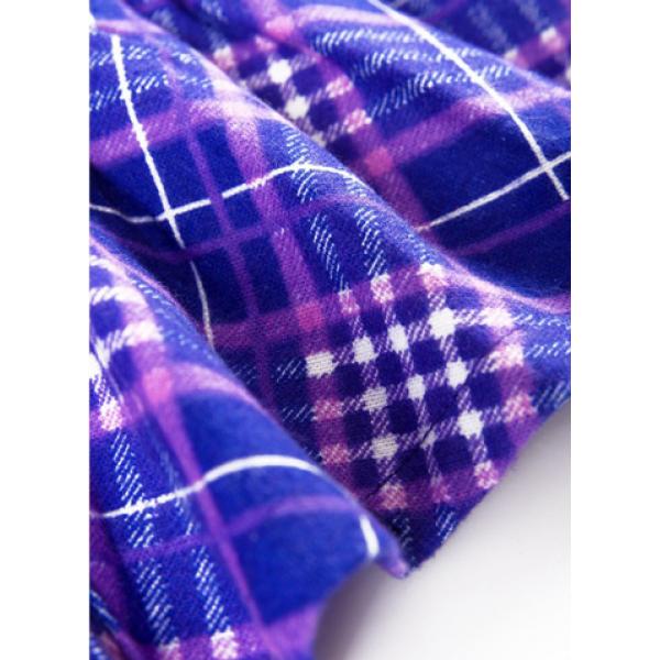 20-54002 Платье, фланель, 3-7 лет, синий