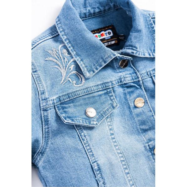 20-727  Куртка джинсовая для девочки, 7-10 лет