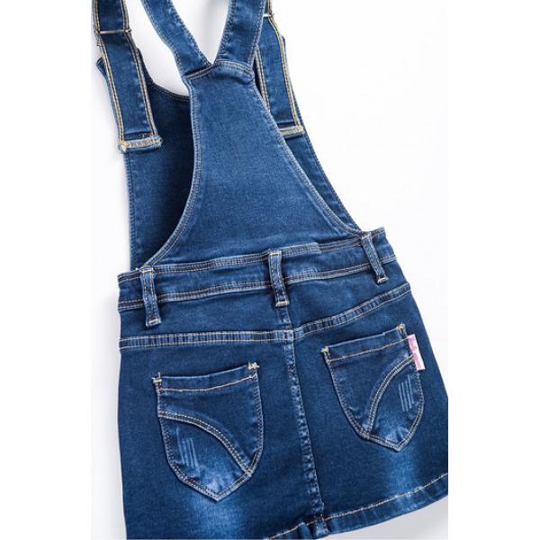 20-737 Сарафан для девочки, 3-7 лет, джинс