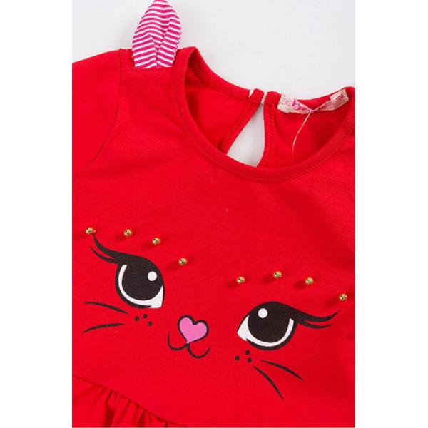 20-85702 Платье, 2-6 лет, красный