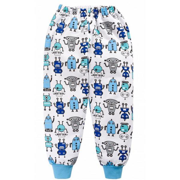 """20-95401 """"Робот"""" Пижама с начесом, 2-6 лет, голубой"""