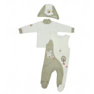 """1567-1 """"Лесная прогулка"""" комплект для малышей, 62, оливковый"""