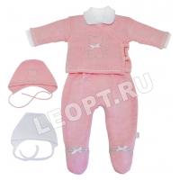 ЛЕО  Вязаный комплект для новорожденных