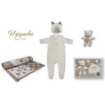 """ЛЕО. """"Игрушка"""" Вязаный комплект для новорожденных в подарочной упаковке"""