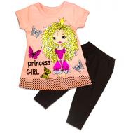 """21-36319 """"Princess"""" Костюм для девочки, 3-6 лет, св-персиковый"""