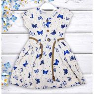 "21-37801 ""Butterfly"" Платье для девочки, 3-7 лет, меланж"