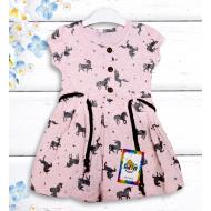 """21-37802 """"Horses"""" Платье для девочки, 3-7 лет, меланж"""