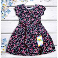"""21-37804 """"Flower"""" Платье для девочки, 3-7 лет, черный"""
