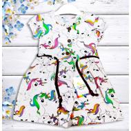 """21-37805 """"Pony"""" Платье для девочки, 3-7 лет, меланж"""