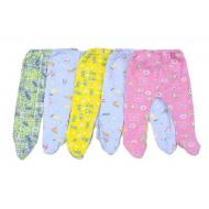 22-01271-5 Ползунки с начёсом для новорожденных, футер, 62-80