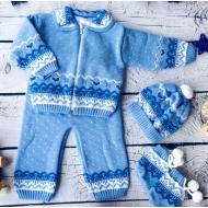 42-0606 Комплект для малыша вязаный, 74-80, голубой