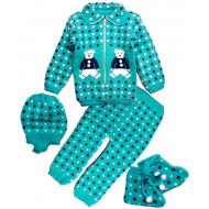 42-0600 «Мой малыш» Комплект для малышей вязаный, 80\86, бирюзовый