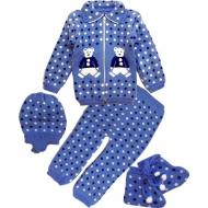 42-0601 «Мой малыш» Комплект для малышей вязаный, 80\86, синий