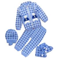 42-0602 «Мой малыш» Комплект для малышей вязаный, 80\86, голубой