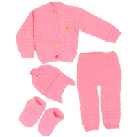 """42-020601 """"BABY"""" Комплект 4 предмета, розовый, 74-80"""