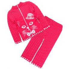 42-0592 «МЯУ» Костюм для девочек, красный