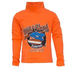 "45-581101 ""Wilde Shark"" водолазка 5-8 лет, интерлок, оранжевая"