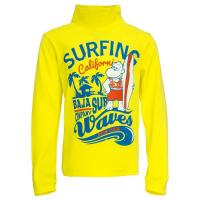 """45-581109 """"Surfing Waves"""" водолазка 5-8 лет, жёлтый"""
