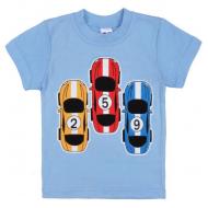 47-140116 Футболка для мальчика, 1-4 года, голубой