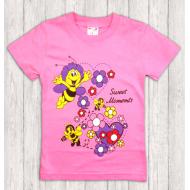 47-140206 Футболка для девочки, 1-4 года, розовый
