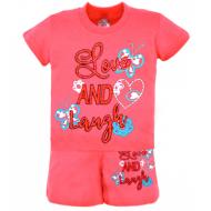 22-582207 Комплект для девочки, 5-8 лет, розовый