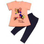 """47-575202 """"Butterfly"""" Комплект для девочки, 5-7 лет, персиковый"""