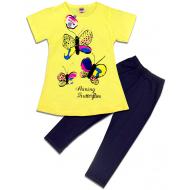 """47-575203 """"Butterfly"""" Комплект для девочки, 5-7 лет, св.жёлтый"""