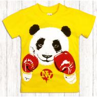 47-140101 Футболка для мальчика, 1-4 года, желтый